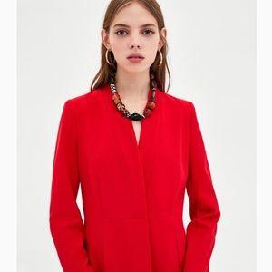 Zara One Button Red Blazer/Coat
